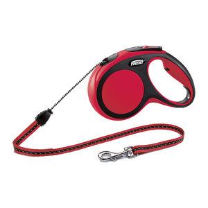 Flexi Rollijn New Comfort – Cord Leash – M (5 m) – Rood