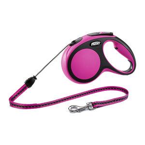 Flexi Rollijn New Comfort – Cord Leash – M (8 m) – Roze