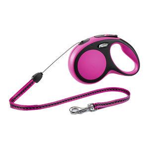 Flexi Rollijn New Comfort – Cord Leash – S (5 m) – Roze