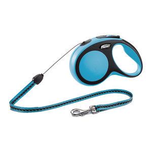 Flexi Rollijn New Comfort – Cord Leash – S (8 m) – Blauw