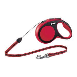 Flexi Rollijn New Comfort - Cord Leash - S (8 m) - Rood