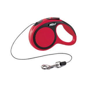 Flexi Rollijn New Comfort – Cord Leash – XS (3 m) – Rood