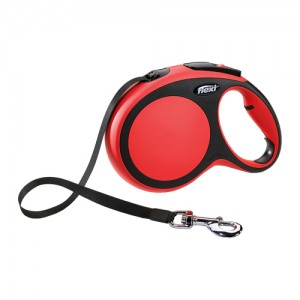 Flexi Rollijn New Comfort - Tape Leash - S (5 m) - Rood
