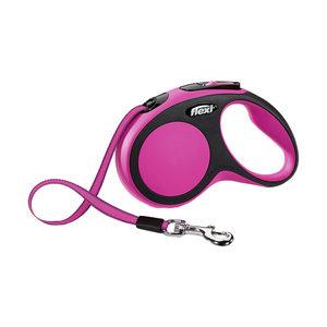Flexi Rollijn New Comfort - Tape Leash - S (5 m) - Roze