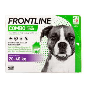 Frontline Combo Hond L (20-40 kg) – 4 + 2 pipetten