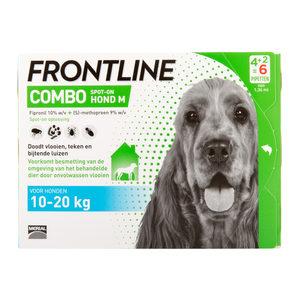 Frontline Combo Hond M (10-20 kg) – 4 + 2 pipetten