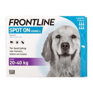 Frontline Spot On hond L (20-40 kg) - 3 pip. plus 1 gratis