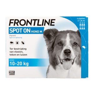Frontline Spot On hond M (10-20 kg) - 3 pip. plus 1 gratis