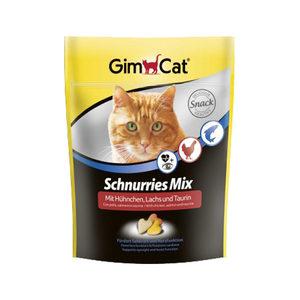 GimCat Schnurries Mix - Zalm, kip en taurine - 140 gram