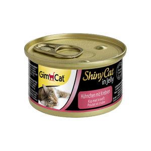 GimCat ShinyCat in Jelly - Kip met Kreeft - 24 x 70 gram