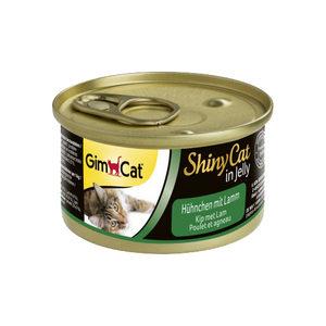 GimCat ShinyCat in Jelly - Kip met Lam - 24 x 70 gram