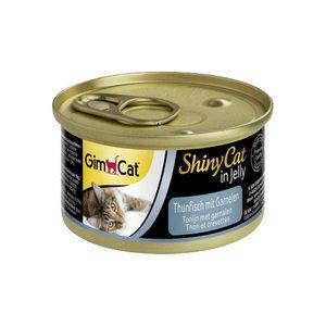 GimCat ShinyCat in Jelly - Tonijn met Garnalen - 24 x 70 gram