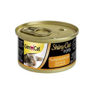 GimCat ShinyCat in Jelly - Tonijn met Kip - 24 x 70 gram