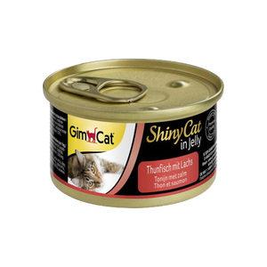 GimCat ShinyCat in Jelly - Tonijn met Zalm - 24 x 70 gram