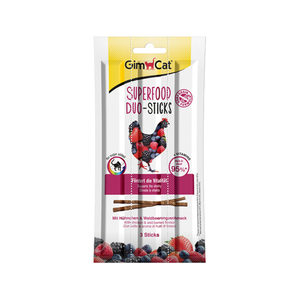 GimCat Superfood Duo-Sticks - Kip & Bosvruchten