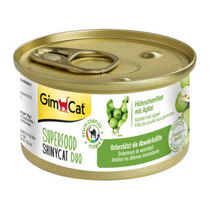 GimCat Superfood ShinyCat Duo - Kipfilet & Appel - 24 x 70 gram