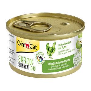 GimCat Superfood ShinyCat Duo - Kipfilet & Appel - 6 x 70 gram