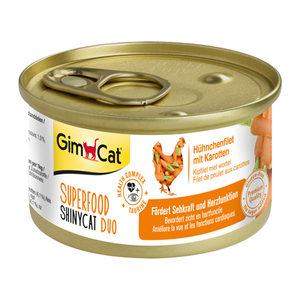 GimCat Superfood ShinyCat Duo - Kipfilet & Wortel - 6 x 70 gram