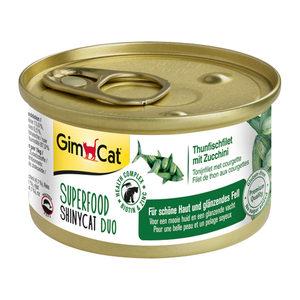 GimCat Superfood ShinyCat Duo - Tonijnfilet & Courgette - 6 x 70 gram