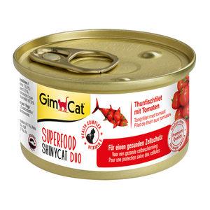 GimCat Superfood ShinyCat Duo - Tonijnfilet & Tomaat - 6 x 70 gram