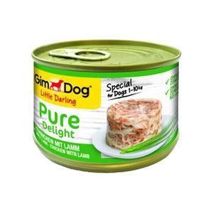 GimDog Pure Delight - Huhn mit Lamm - 18 x 150 g