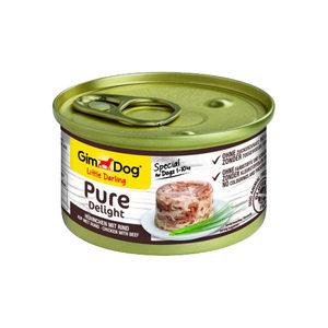 GimDog Pure Delight - Kip met Rund - 12 x 85 gram