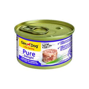 GimDog Pure Delight - Kip met Tonijn - 12 x 85 gram