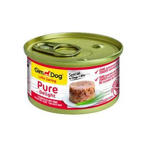 GimDog Pure Delight - Tonijn met Rund - 12 x 85 gram