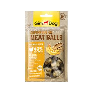 GimDog Superfood Meat Balls – Kip, Banaan & Sesamzaad – 70 g