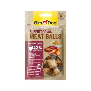 GimDog Superfood Meat Balls - Kip, Zoete Aardappel & Gierst - 70 g