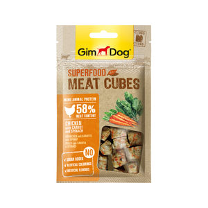 GimDog Superfood Meat Cubes - Kip, Wortel & Spinazie - 40 g