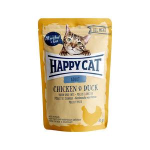 Happy Cat All Meat Adult Kip & Eend - Maaltijdzakjes - 24 x 85 g