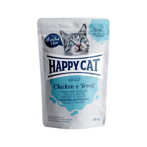 Happy Cat Meat in Sauce Adult Kip & Forel - Maaltijdzakjes - 24 x 85 g