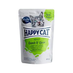 Happy Cat Meat in Sauce Adult Lam & Lever - Maaltijdzakjes - 24 x 85 g