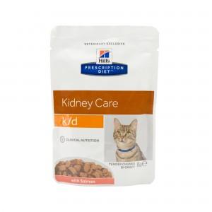 Hill's k/d - Feline maaltijdzakjes zalm 12x 85 gr kopen