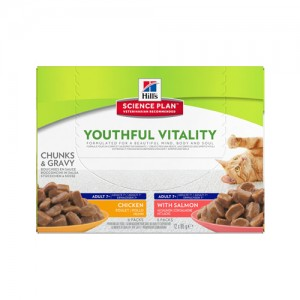 Hill's Feline Adult Youthful Vitality Multipack 12x85 g Kattenvoer