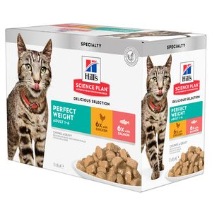 Hill´s Science Plan - Feline Adult - Perfect Weight Del. Selection - 12x85g