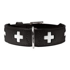 Hunter Halsband Swiss - Zwart - 37 cm