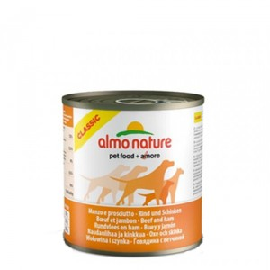Almo Nature - Classic - Adult dog food - Rund Ham 12x290g