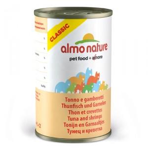 Almo Nature Classic Tonijn en Garnaaltjes 24x140g
