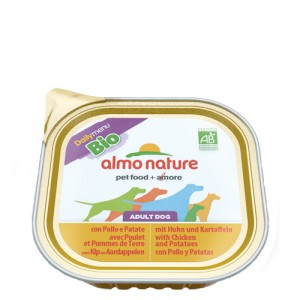 Almo Nature - Dog - Daily Menu Bio Paté - Huhn & Kartoffeln - 9x 300 g