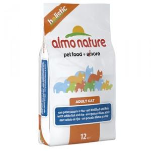 Almo Nature Holistic Witvis Rijst 12kg