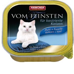 Animonda Vom Feinsten gecastreerde kat kalkoen forel 32x100 gr.