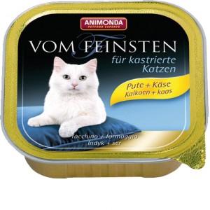Animonda Vom Feinsten gecastreerde kat kalkoen kaas 32x100 gr.