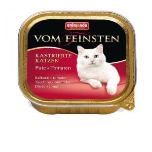 Animonda Vom Feinsten gecastreerde kat - kalkoen tomaat - 32x100 gr.