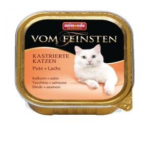 Animonda Vom Feinsten gecastreerde kat kalkoen zalm 32x100 gr.