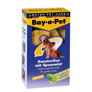 Bay-o-Pet Kauwstrips Spearmint – grote hond (140 gr.)