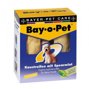 Bay-o-Pet Kauwstrips Spearmint - kleine hond (140 gr.)
