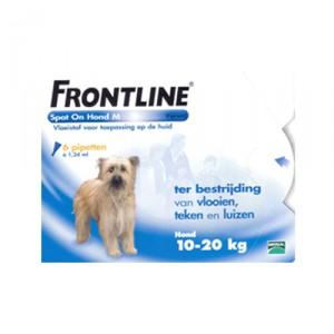 Frontline Spot On hond M (10-20 kg) - 6 pip.