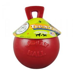 Jolly Ball Tug-n-Toss - Large (8 inch) 20 cm rood kopen